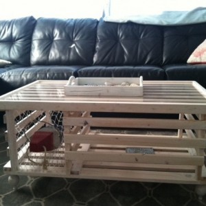 Handmade Wooden Lobster Trap Coffee Table, White Finish! Free Shipping!