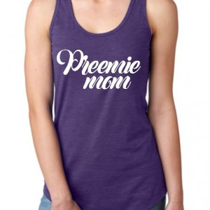 Customized preemie mom tank