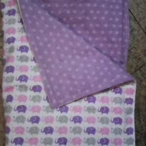 Baby Blanket Baby Elephants Flannel Double Sided Flannel