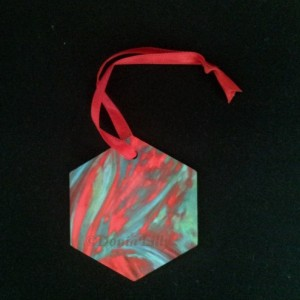 Christmas Ornaments: geometric metal double sided unbreakable tree decoration SET OF 3