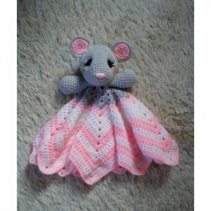 Mouse Lovey Baby Blanket, Comfort Blanket, Security Blanket, Baby Blanket, Baby Shower Gift