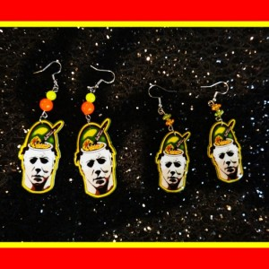 Halloween Horror Movie Retro Classic Candy Pail Dangle Earrings