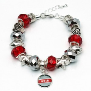 Ohio, Football, Buckeye. Ohio Bead Bracelet