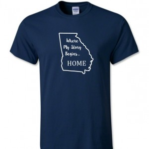 Georgia State T Shirt, Where My Story Begins... Home State T Shirt FREE SHIPPING