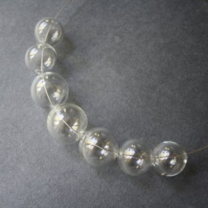 Blown Glass Necklace - Transparent - Lightweight