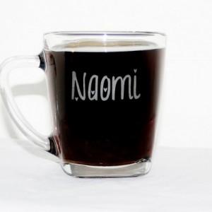 Etched Square Coffee Mug