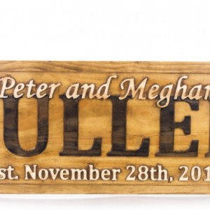 Personalized Sign, Family Established Sign, Anniversary Gift, Custom Wood Sign, Housewarming Gift, Couples Wedding Sign, Family Plaque