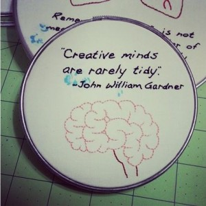 Creative Minds Embroidery Hoop Art