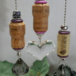Champagne, Wine, Beer Cork Light or Ceiling Fan Pull