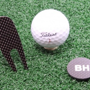 Personalized Unique Carbon Fiber Golf Divot Repair Tool