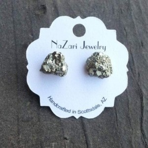 RAW PYRITE CHUNK EARRINGS