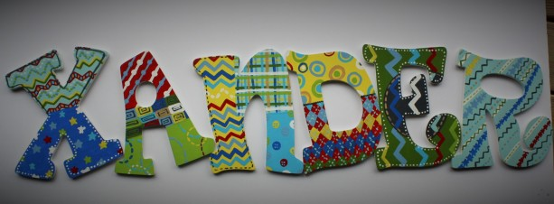 Boy Nursery Wall Letters Hand Painted To Match Any Bedding Or Theme