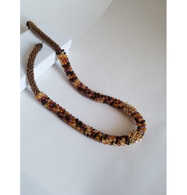 Kumihimo Autumn Gold Necklace