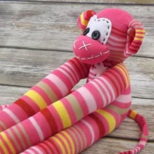 Sock monkey : Laura ~ The original handmade plush animal made by Chiki Monkeys