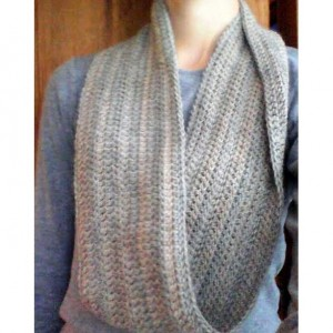 Light Grey Wool Infinity Scarf