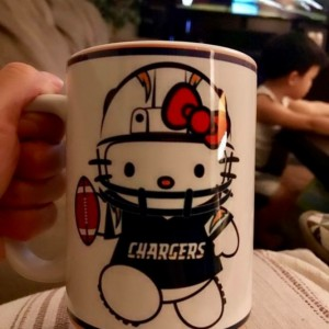 Custom Made Hello Kitty San Diego Chargers 15oz Coffee Mug