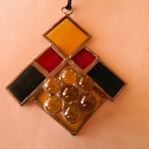 "Stained Glass ""Geometric"" Sun Catcher"