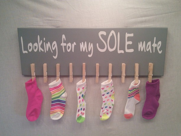 Missing Socks, Laundry Sign, Mother's Day Gifts, Laundry Room Sign, Lost Socks, Mothers Day, Sole Mate, Sole Mate, Socks Sign, Gift Ideas