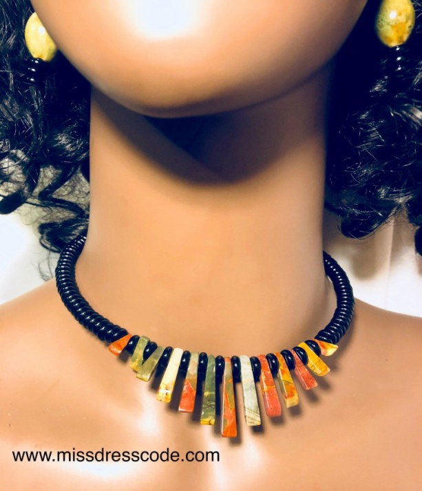 Beaded Statement Jewelry Set