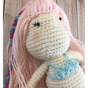 Little Miss Mermaid Doll Plush Toy/ Mermaid Plushies/Photography Prop/ Stuffed Toy / Soft Toy/Amigurumi Toy- MADE TO ORDER