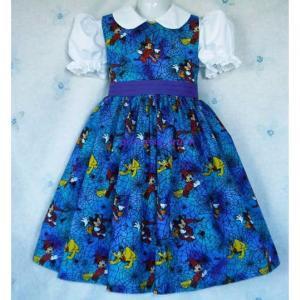 NEW Handmade Disney Minnie/Mickey/Pluto Spider Web Halloween Dress Custom Sz
