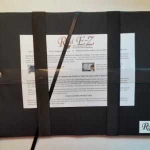 Read E-Z book cover/holder in Graceful Garden fabric