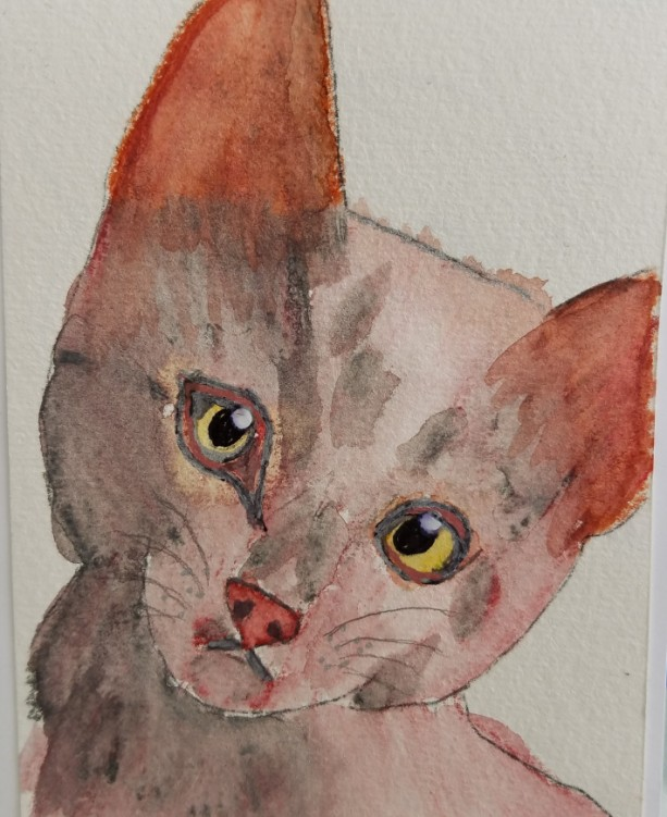 Hand-painted Kitten Notecards, 5-Pack