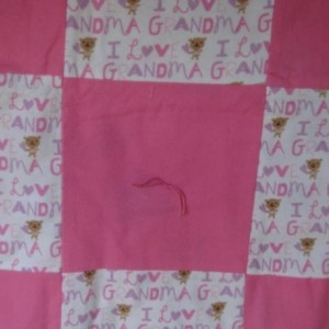Grandma's Quilt for Baby, Handmade and Says I Love Grandma