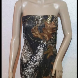 Handmade Strapless Camouflage Dress