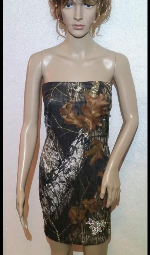 Handmade Strapless Camouflage Dress