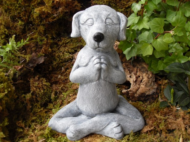 Meditating Dog Statue,Yoga Dog Statue,Dog Buddha Statue