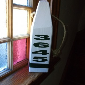 HAND painted Wooden Lobster Address Buoy. The Original!