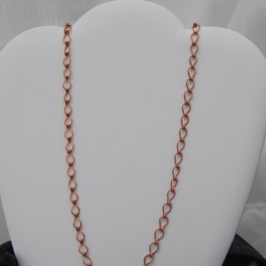 Copper Chain Necklace - 24 inches -  hand crafted