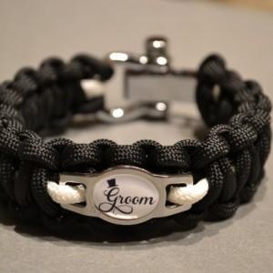 Bride and Groom Paracord Bracelet Wedding Gift Set