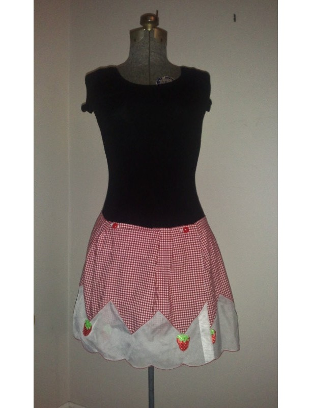 Strawberry Picnic Skirt