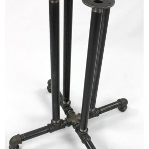 "Black Pipe Table Base ""DIY"" Parts Kit, PUB, BAR - 1"" Black Pipe, 22"" Wide Base x 40"" Tall, Perfect for Bars, Restaurants, Coffee Shops"