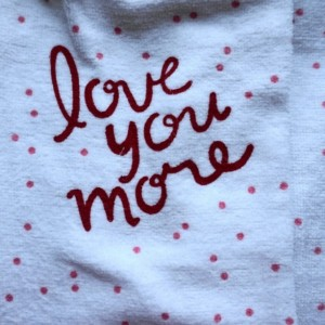 Love You More White Crochet Kitchen Towels, Set of 2