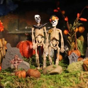 Halloween, Dia De Los Muertos, Until Death Do Us Part Diorama Shadowbox