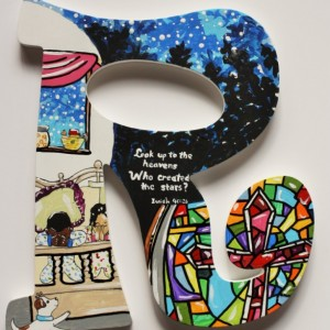 Decoupage PRAY Letters -- Set of 4 Letters