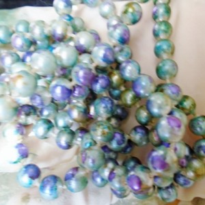 """Hand Painted 52"""" Pearl Necklace"""