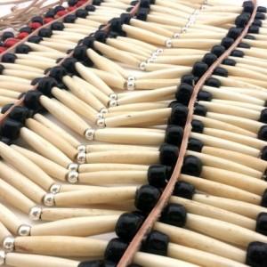 Handmade Large Traditional Buffalo Bone Hairpipe Beads Tribal Breastplate