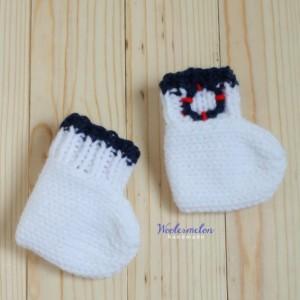Baby Sailor Cap, Diaper cover & Socks set