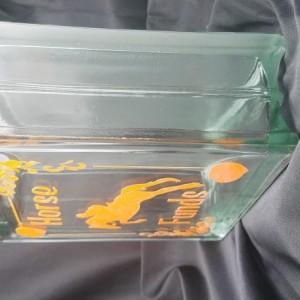 Horse Glass Block Savings Jar
