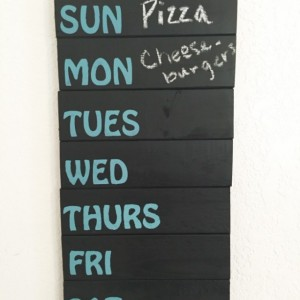 Chakboard Menu Sign~Weekly Menu~Chalkboard Sign