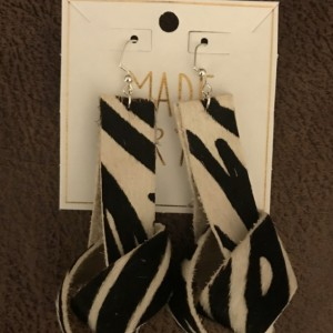 Printed Leather Knotted Earrings
