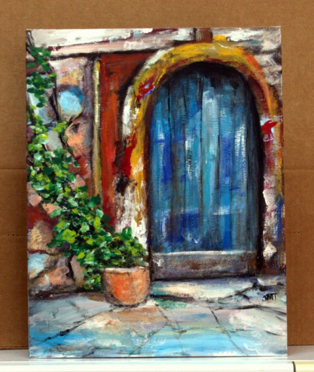 Blue Door Painting
