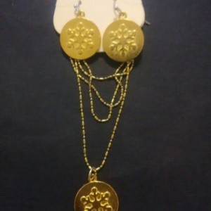 Snowflake Gold Charm Jewelry Set