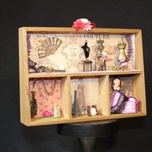 Bonjour Paris Shadowbox Diorama