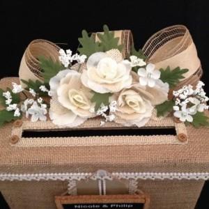 Rustic Wedding Card Box,Burlap Wedding Card Box,Card Holder,Wedding Invitation,Wedding Dress,Wedding Card Box,wedding shoes,wedding gift