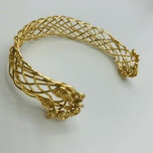 9 Strand Gold Braided Bracelet